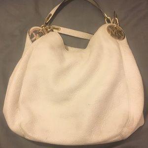 White and gold Michael kors bag